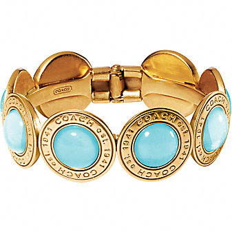 Coach Official Site - GLASS SNAPHEAD HINGED BANGLE :  bangle womens clothing hinged womens