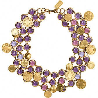 Coach Official Site - DAPHNE 3 STRAND GLASS AND CHAIN NECKLACE :  necklace official jewelry daphne