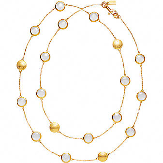Coach Official Site - DAPHNE GLASS STATION NECKLACE :  necklace official jewelry daphne