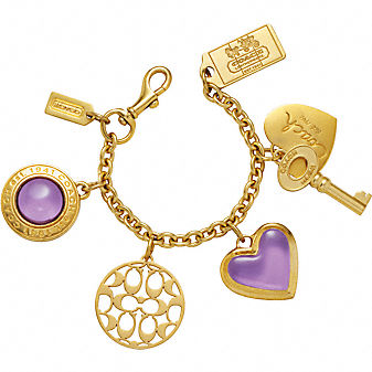Coach Official Site - DAPHNE MIXED CHARM BRACELET :  charm totes official jewelry