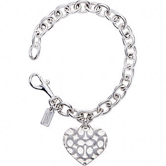Coach Official Site - SIGNATURE HEART BRACELET from coach.com