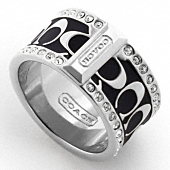 PAVE SIGNATURE ENAMEL RING