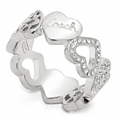 MIRANDA HEART BAND RING