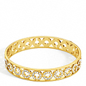 HALF INCH PIERCED OP ART PAVE BANGLE