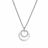 Sterling Coach Ring Necklace