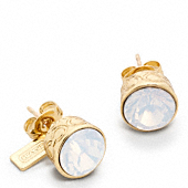 STONE STUD EARRINGS