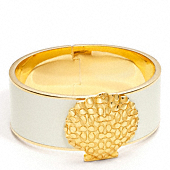 ONE INCH HINGED SIGNATURE SHELL BANGLE