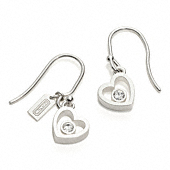 Sterling Heart Crystal Earrings