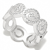 Sterling Pave Op Art Ring