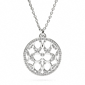 PAVE SIGNATURE DISC NECKLACE