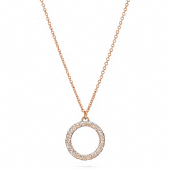 PAVE OPEN CIRCLE PENDANT NECKLACE