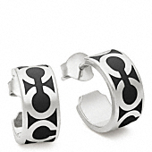 Small Op Art Hoop Earrings