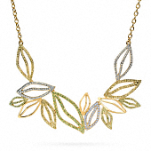 PAVE LEAF SHORT NECKLACE