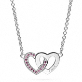 Sterling Interlocking Heart Necklace