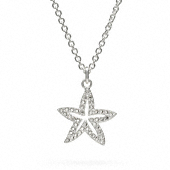 Sterling Pave Starfish Necklace