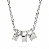Sterling Small Rondelle Necklace