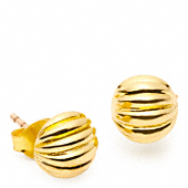 RIBBED STUD EARRINGS