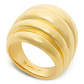 RIBBED DOMED RING