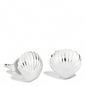 Sterling Shell Stud Earrings