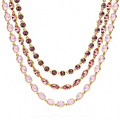 Triple Strand Rhinestone Necklace