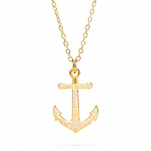 PAVE ANCHOR NECKLACE