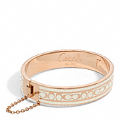 Sig C Chain Hinged Bangle