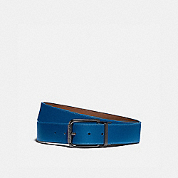 ROLLER BUCKLE CUT-TO-SIZE REVERSIBLE BELT, 38MM - SADDLE/PACIFIC - COACH 973