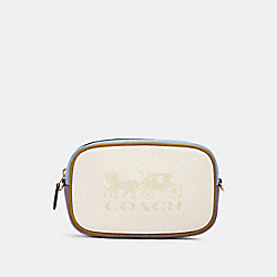 JES CONVERTIBLE BELT BAG IN COLORBLOCK - IM/CHALK MULTI - COACH 97654