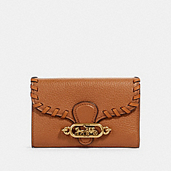 JADE MEDIUM ENVELOPE WALLET WITH WHIPSTITCH - OL/TAUPE - COACH 97755