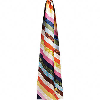 Coach Official Site - PIECED LEGACY STRIPE OBLONG SCARF :  luxe designr official summer trend