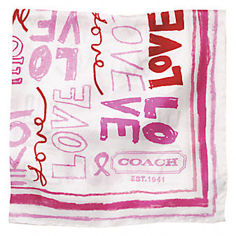 BREAST CANCER SCARF from coach.com