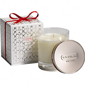 Coach Official Site - SIGNATURE CANDLE from coach.com