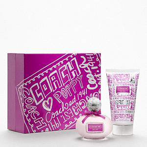 Coach - Poppy Flower Mothers Day Gift Set Sv/purple