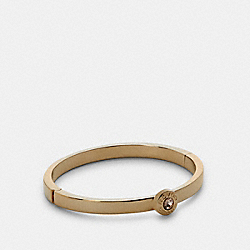 OPEN CIRCLE HINGED BANGLE - GOLD - COACH C0199