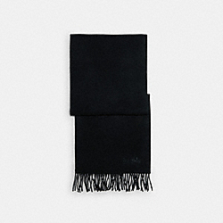 SOLID CASHMERE SCARF - BLACK - COACH C0380