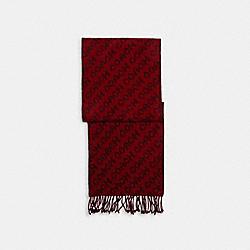 SIGNATURE SCARF - RED/BLACK - COACH C0543