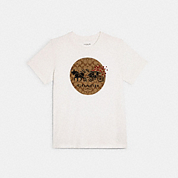 LUNAR NEW YEAR OX AND CARRIAGE SIGNATURE T-SHIRT - WHITE - COACH C0765