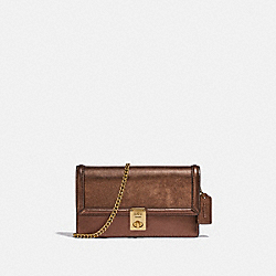 HUTTON CLUTCH - B4/BRONZE - COACH C0843