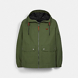 HOODED SHORT PARKA - SAGE - COACH C0930