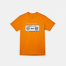 BOOMBOX T-SHIRT - CANARY - COACH C0959