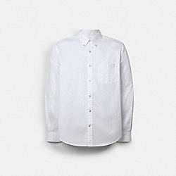 LONG SLEEVE OXFORD SHIRT - WHITE - COACH C0971