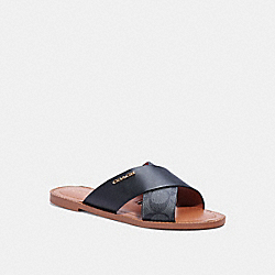 HILDA SANDAL IN SIGNATURE CANVAS - BLACK - COACH C1276