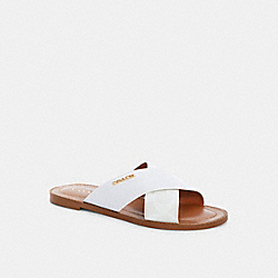 HILDA SANDAL IN SIGNATURE CANVAS - OPTIC WHITE - COACH C1276