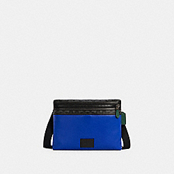 CARRIER CROSSBODY IN COLORBLOCK SIGNATURE CANVAS - QB/SPORT BLUE CHARCOAL - COACH C1299