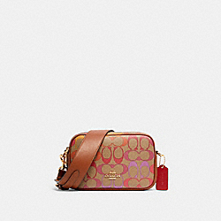 JES CROSSBODY 20 IN RAINBOW SIGNATURE CANVAS - IM/KHAKI MULTI - COACH C1308