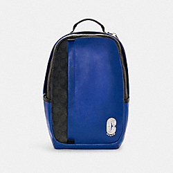 EDGE BACKPACK IN COLORBLOCK SIGNATURE CANVAS - QB/SPORT BLUE BLACK - COACH C1313