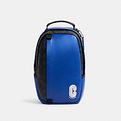 EDGE PACK IN COLORBLOCK SIGNATURE CANVAS - QB/SPORT BLUE BLACK - COACH C1329