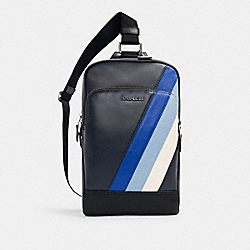 GRAHAM PACK WITH DIAGONAL STRIPE - QB/MIDNIGHT/SPORT BLUE MULTI - COACH C1361