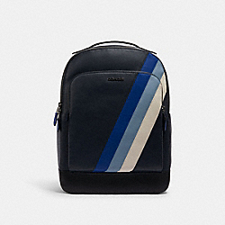 GRAHAM BACKPACK WITH DIAGONAL STRIPE - QB/MIDNIGHT/SPORT BLUE MULTI - COACH C1364