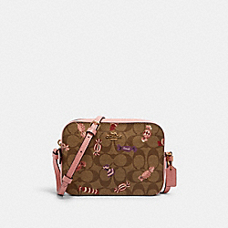 MINI CAMERA BAG IN SIGNATURE CANVAS WITH CANDY PRINT - IM/KHAKI MULTI - COACH C1386